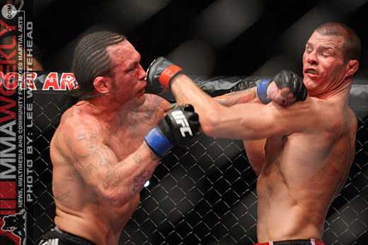 Chris Leben and Michael Bisping at UFC 89