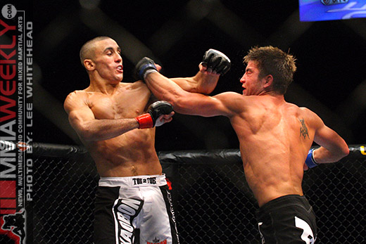 Terry Etim and Sam Stout at UFC 89