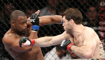 Rashad Evans and Forrest Griffin at UFC 92