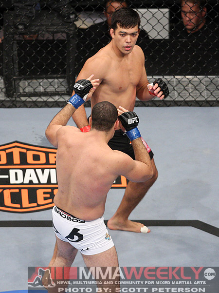 Lyoto Machida and Shogun Rua at UFC 104