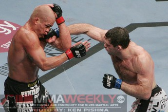 Tito Ortiz and Forrest Griffin at UFC 106