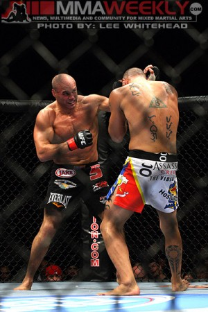 Randy Couture and Brandon Vera at UFC 105
