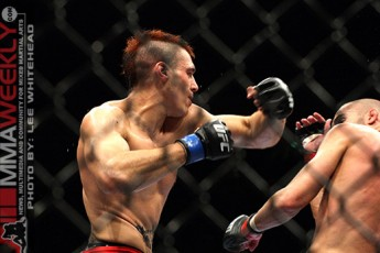 Mike Swick and Dan Hardy at UFC 105