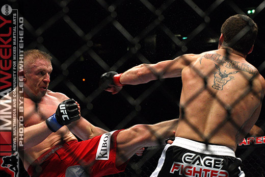 Paul Kelly and Dennis Siver at UFC 105