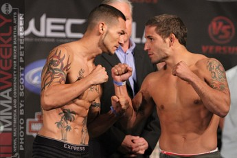 Cub Swanson and Chad Mendes at WEC 50