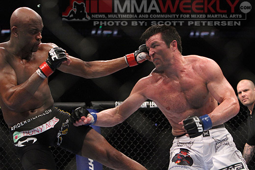 Anderson Silva and Chael Sonnen at UFC 117