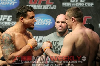 Frank Mir and Mirko Cro Cop at UFC 119