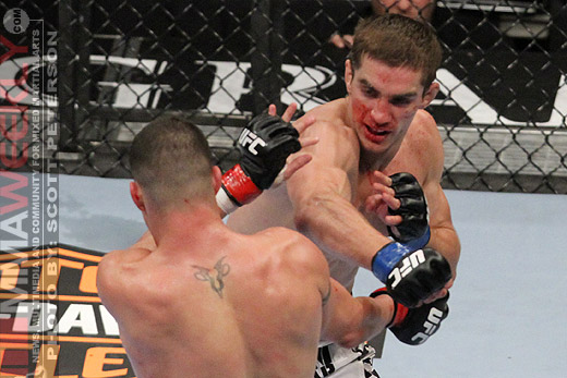 John Hathaway and Diego Sanchez at UFC 114