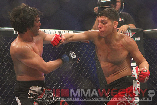 Nick Diaz and KJ Noons at Strikeforce