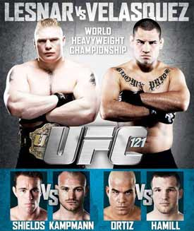 UFC 121 Poster Small
