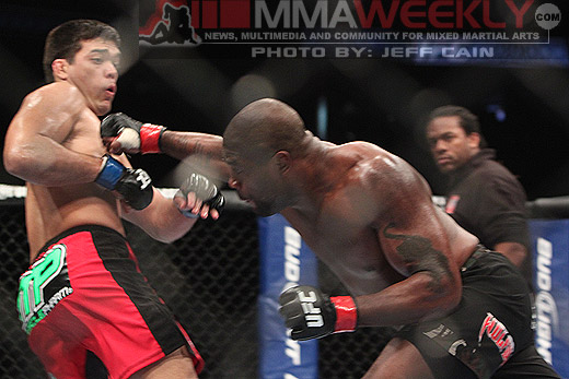 Lyoto Machida and Quinton Rampage Jackson at UFC 123