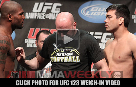 UFC 123 weighin video