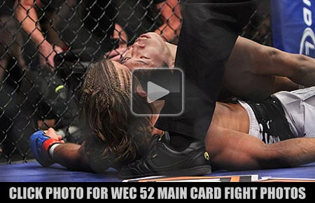 Urijah Faber Submits Takeya Mizugaki at WEC 52 Fight Photo Gallery