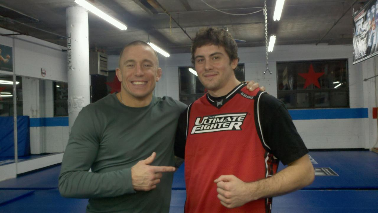 UFC champion Georges St-Pierre and Andy Main