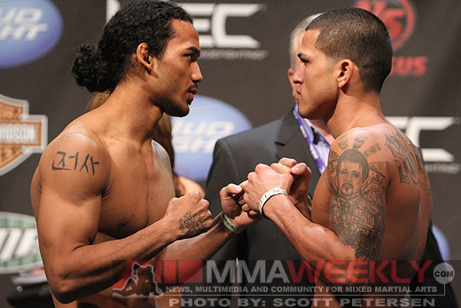 Ben Henderson and Anthony Pettis at WEC 53