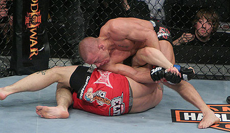 Georges St-Pierre and Dan Hardy at UFC 111