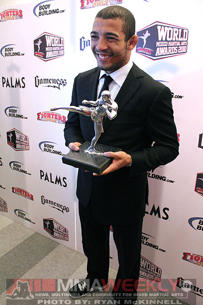 Jose Aldo at the 2010 World MMA Awards