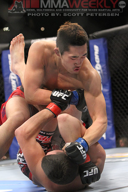 Dong Hyun Kim and Nate Diaz at UFC 125