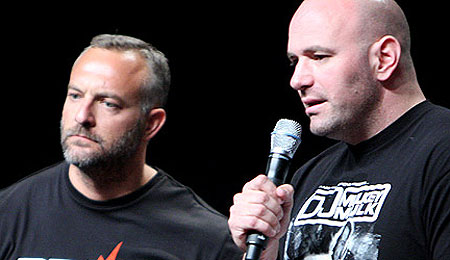 Lorenzo Fertitta and Dana White - UFC 100