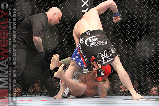 Brian Stann and Chris Leben at UFC 125