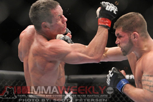 Marcus Davis and Jeremy Stephens at UFC 125
