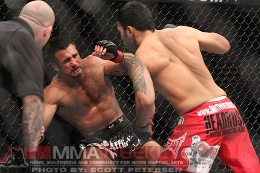 Phil Baroni and Brad Tavares at UFC 125
