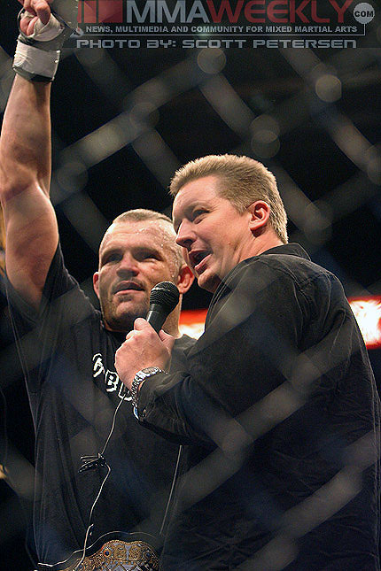 Chuck Liddell and Ryan Bennett at UFC 52