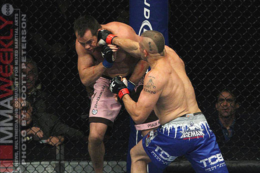 Chuck Liddell and Rich Franklin at UFC 115