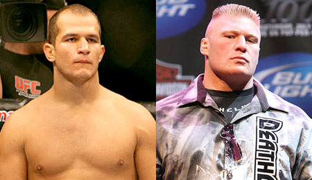 TUF 13 head coaches Junior Dos Santos and Brock Lesnar