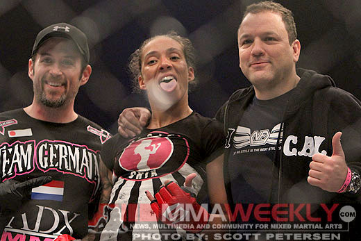 Germaine De Randamie and her coaches
