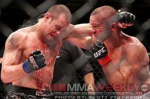 Kevin Burns and Chris Lytle go toe-to-toe at the TUF 9 finale
