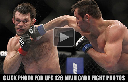 UFC 126 Main Card Fight Photo Gallery