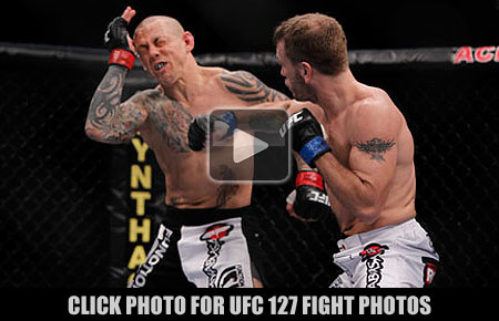 UFC 127 fight photos