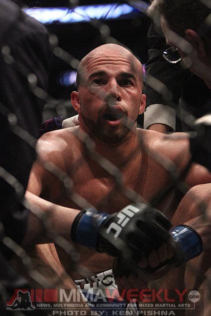 Eliot Marshall sits defeated at UFC 128