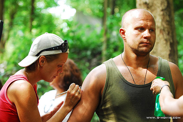 Fedor Emelianenko on the set of The Salamander Key