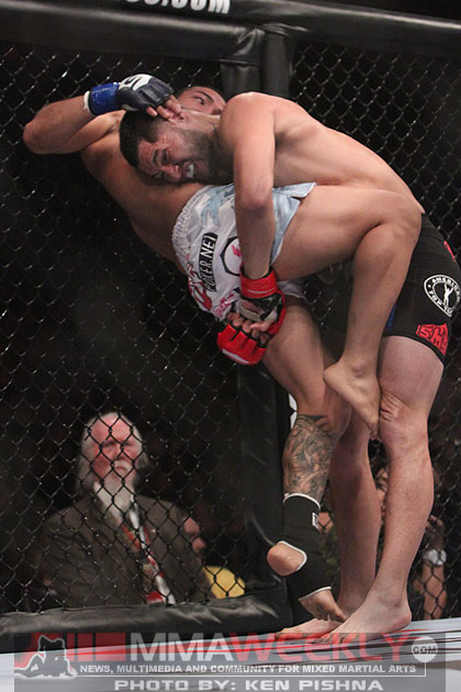 Billy Evangelista and Jorge Masvidal at Strikeforce