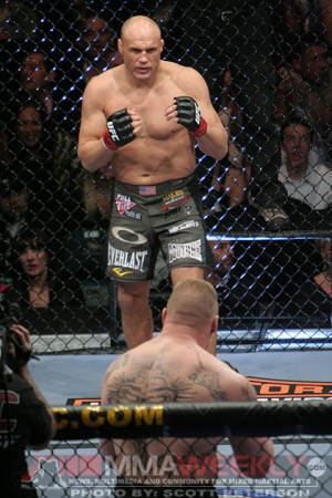Randy Couture vs. Brock Lesnar at UFC 91