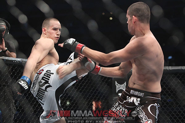 Rory MacDonald and Nate Diaz at UFC 129