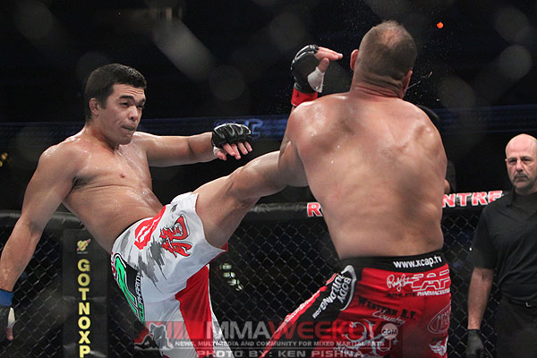 Lyoto Machida and Randy Couture at UFC 129