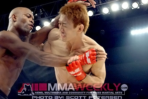 Anderson Silva vs. Yushin Okami at Rumble on the Rock in 2006