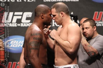 Quinton Rampage Jackson and Matt Hamill at UFC 130