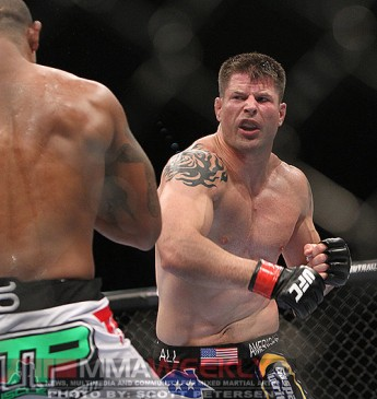 Brian Stann driving forward