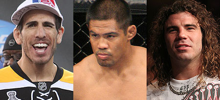 Kenny Florian, Mark Munoz, and Clay Guida
