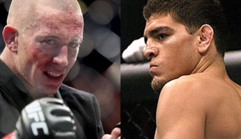 Georges St-Pierre and Nick Diaz