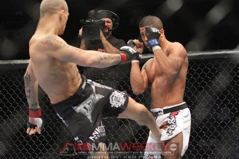 Dustin Poirier and Jason Young at UFC 131