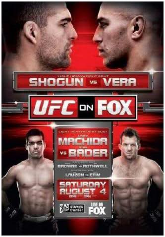 UFC on FOX 4 poster