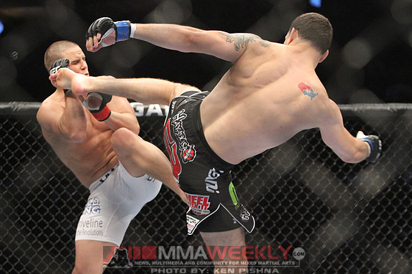 Chris Weidman and Jesse Bongfeldt at UFC 131