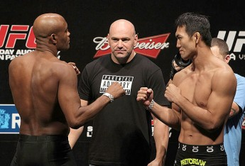 Anderson Silva and Yushin Okami at UFC 134