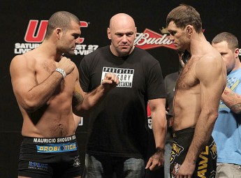 Mauricio Shogun Rua and Forrest Griffin at UFC 134