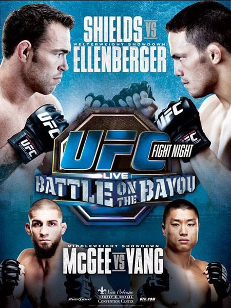 UFC Fight Night 25 Shields vs Ellenberger Poster